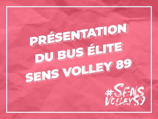 Présentation du bus Élite Sens Volley 89